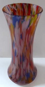 Vase with brightly colored decor